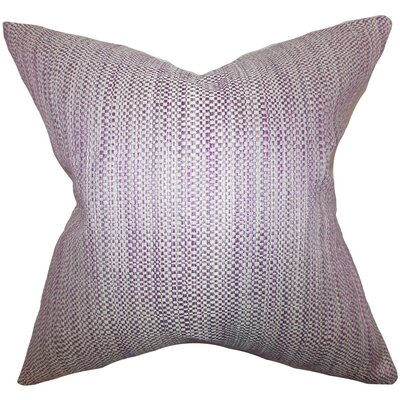 Zebulun Woven Throw Pillow Cover Color: Purple