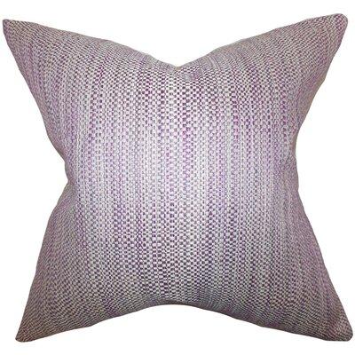 Zebulun Woven Throw Pillow Cover Color: Purple