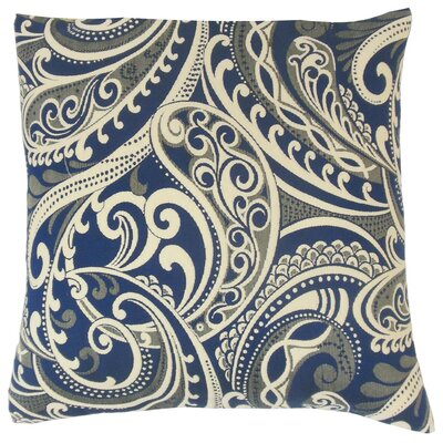 Natashaly Damask Throw Pillow Cover Color: Navy