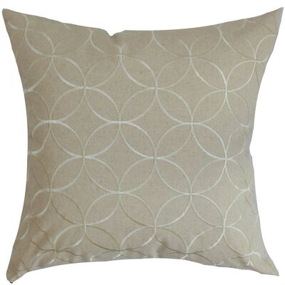 Dittany Geometric Cotton Throw Pillow Cover