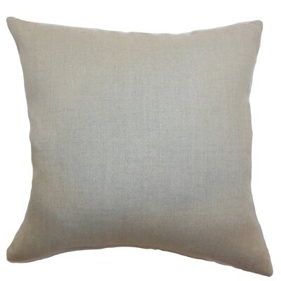 Urania Plain Linen Throw Pillow Size: 18 x 18