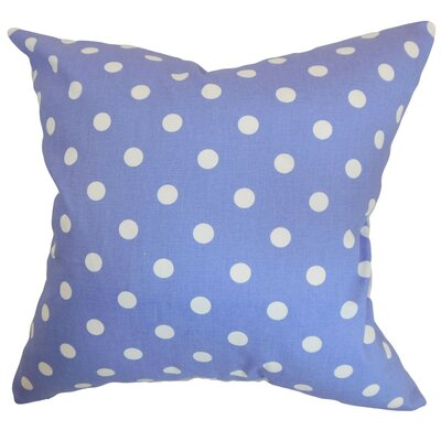 Nancy Polka Dots Throw Pillow Cover Color: Julie White