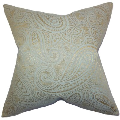 Cashel Paisley Throw Pillow Cover Color: Seaglass Gold