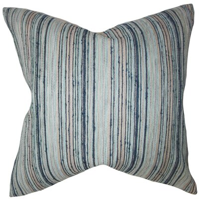 Bartram Stripes Throw Pillow Cover Color: Blue