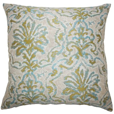 Zain Damask Throw Pillow Cover Color: Caribbean