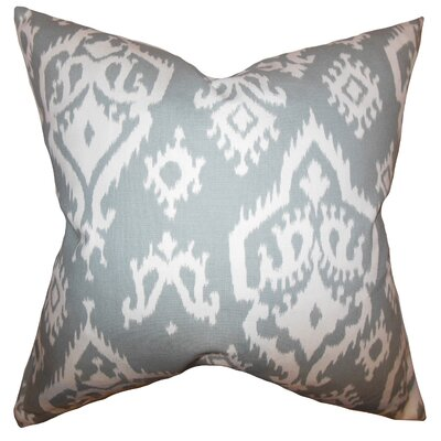 Baraka Ikat Cotton Throw Pillow Cover Color: Gray