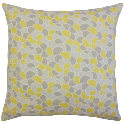Lily Geometric Throw Pillow Cover Color: Canary