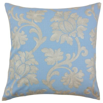 Patrice Floral Throw Pillow Cover Color: Chambray