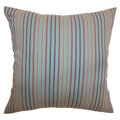 Lesly Stripes Cotton Throw Pillow Size: 18 x 18