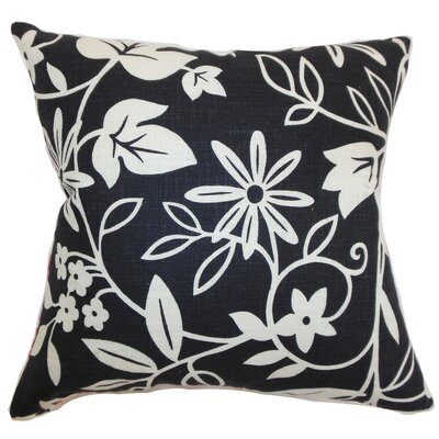 Gambela Floral Throw Pillow Cover Color: Jet