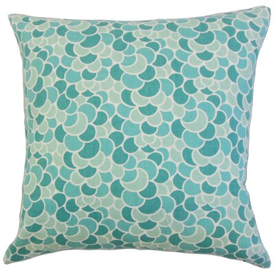 Lily Geometric Bedding Sham Size: King, Color: Aquamarine