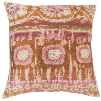 Xantara Ikat Throw Pillow Cover Color: Guava