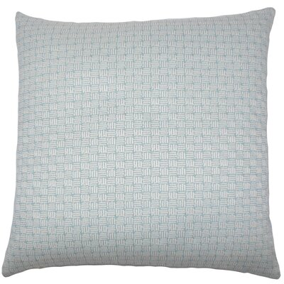 Nahuel Geometric Throw Pillow Cover Color: Aqua