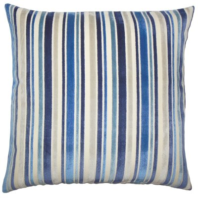 Akikta Striped Throw Pillow Cover Color: Blue