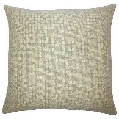 Nahuel Geometric Throw Pillow Cover Color: Peridot