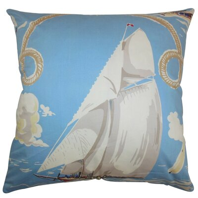 Margalo Coastal Cotton Throw Pillow Size: 24 x 24