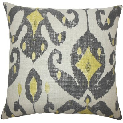 Eitan Ikat Throw Pillow Cover Color: Peridot