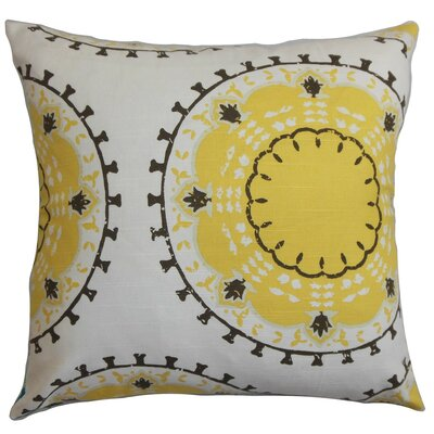 Edolie Cotton Throw Pillow Size: 18 x 18