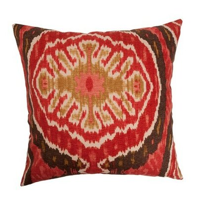 Iovenali Ikat Throw Pillow Cover Color: Red