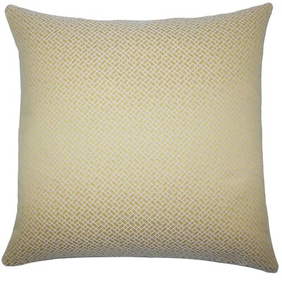 Pertessa Geometric Throw Pillow Cover Color: Buttercup