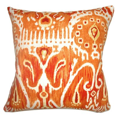 Delron Ikat Cotton Throw Pillow Cover Color: Pumpkin