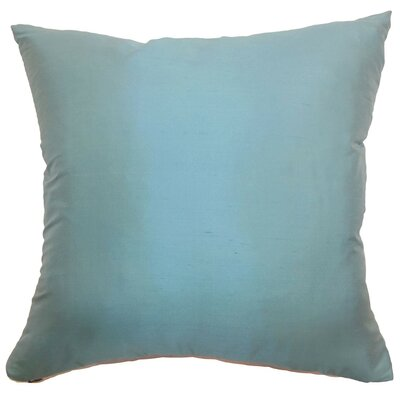 Agnieska Plain Silk Throw Pillow Size: 22 x 22