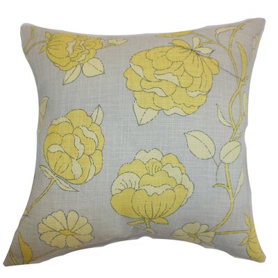 Lalomalava Floral Throw Pillow Cover Color: Gray