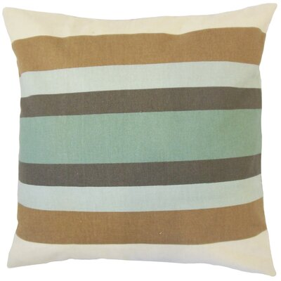 Gainell Stripes Cotton Throw Pillow Cover Color: Truffle