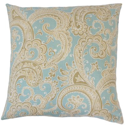 Fiachra Paisley Throw Pillow Cover Color: Natural Blue
