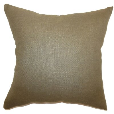 Cameo Plain Linen Throw Pillow Size: 18 x 18