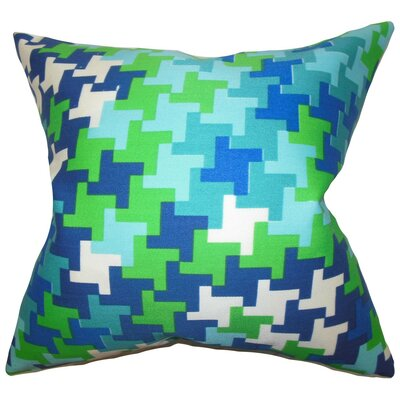 Ciel Geometric Silk Throw Pillow Cover