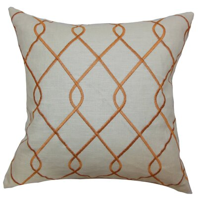 Jolo Geometric Throw Pillow Cover Color: Papaya