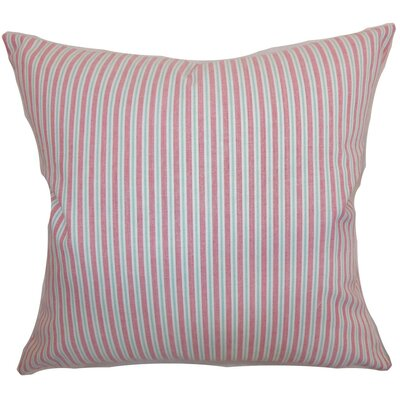"Debrah Stripes Cotton Throw Pillow Size: 22"" x 22"" P22-MVT-1164-PINK-C100"