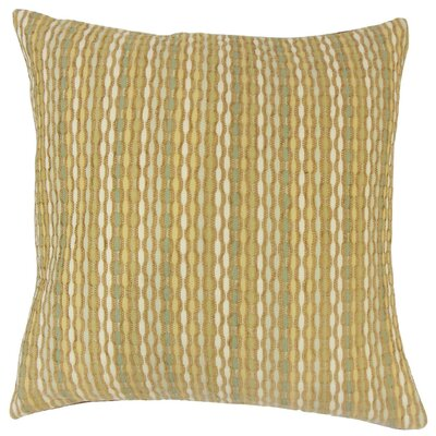 Conesus Stripes Throw Pillow Cover Color: Dune