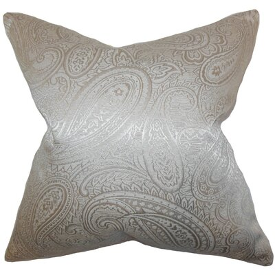 Cashel Paisley Throw Pillow Cover Color: Pewter