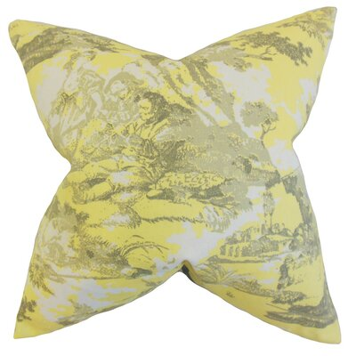 Folami Toile Cotton Throw Pillow Size: 18 x 18