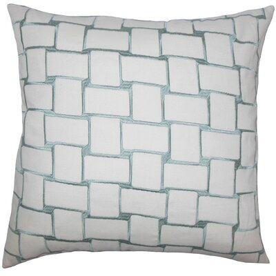 Kalyca Geometric Throw Pillow Cover Color: Aqua
