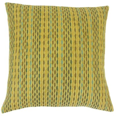 Conesus Stripes Throw Pillow Cover Color: Kelp