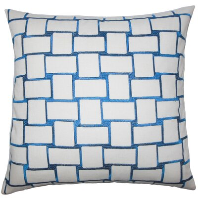 Quetzal Geometric Throw Pillow Cover Color: Teal