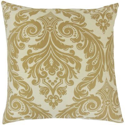 Jovita Damask Throw Pillow Cover Color: Camel