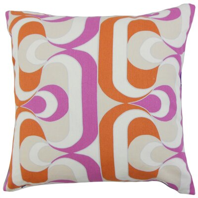 Nairobi Geometric Throw Pillow Cover Color: Tangerine