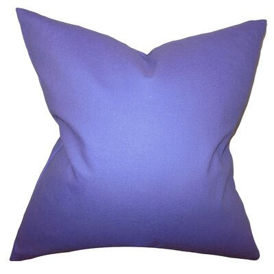 Kalindi Solid Throw Pillow Cover Color: Thistle