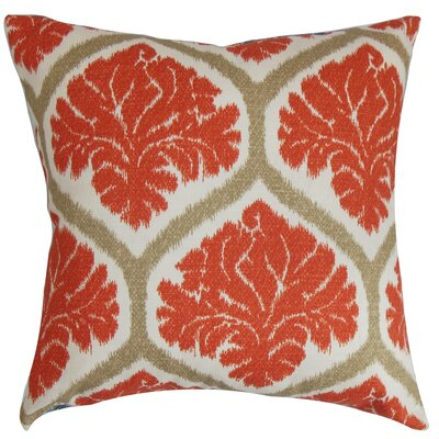 Priya Floral Cotton Throw Pillow Cover Color: Russett