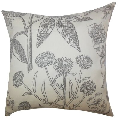Neola Floral Throw Pillow Cover Color: Gray