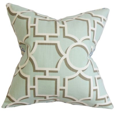 Kenn Geometric Cotton Throw Pillow Size: 18 x 18