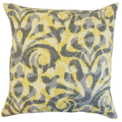 Coretta Ikat Throw Pillow Cover Color: Yellow