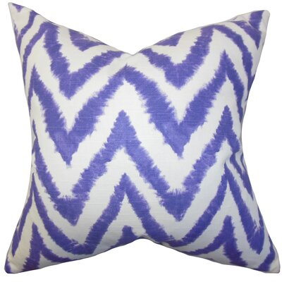 Kingspear Zigzag Throw Pillow Cover Color: Purple
