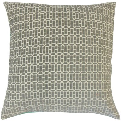 Yancy Geometric Throw Pillow Cover Color: Gray