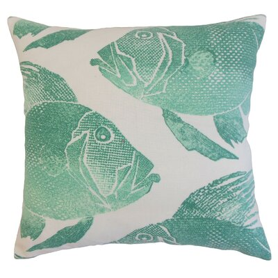 Lael Outdoor Throw Pillow Cover Color: Aqua
