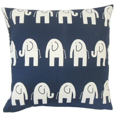 Horton Graphic Cotton Throw Pillow Size: 18 x 18
